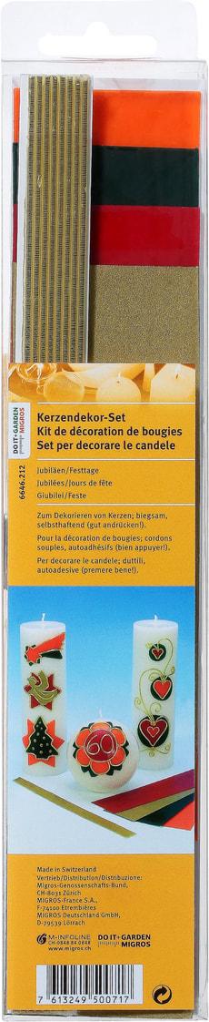 Kerzendekor Set Jubiläum Festtage