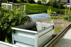 Couvercle en acrylique p. jardin surélevé CH