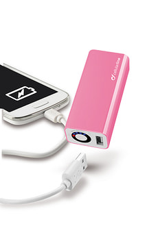 USB Akkuladegerät 3000mAh pink