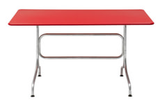Tisch BAHAMAS, rot, 140 cm