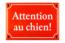 Emailschild Attention au chien!