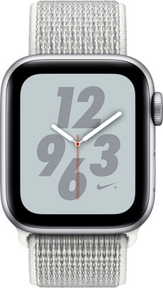 Watch Nike+ 40mm GPS silver Aluminum Summit White Nike Sport Loop