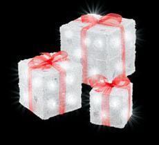 LED Acryl Geschenkbox, 3er Set