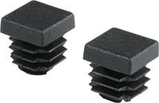 Stopfen quadratisch 15.5mm PE schwarz 2Stk.
