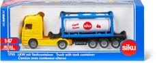 Camion avec conteneur-citerne