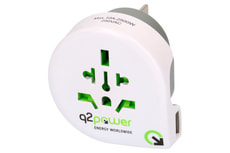 Q2Power Reiseadapter Welt nach Australien/China mit USB