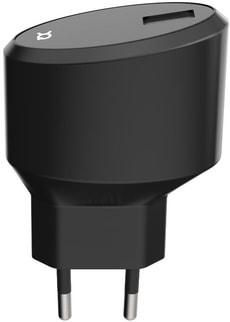 Travel Charger 2.4A Single USB EU - USB C schwarz