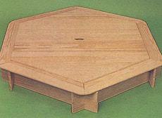 Sandkasten 6-eckig mit Holzdeckel