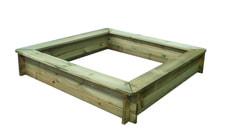 Bac à sable avec assise circulaire 160 x 160 cm