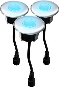 EASY CONNECT LED Spot à encastrer bois,  Ø 6 cm, 3 pcs.