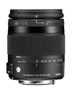 18-200mm F3.5-6.3 DC Makro OS HSM Contemporary per Nikon