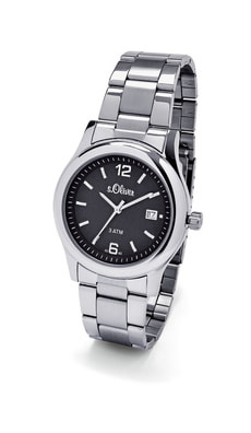L- s.Oliver REALITY schwarz Armbanduhr