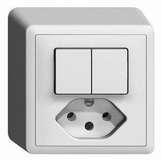 Interrupteur combi. AP S1/3+3