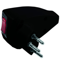 Spina RESET T12 con breaker switch nero