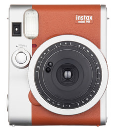 Instax Mini 90 Neo Classic Instant camera marron