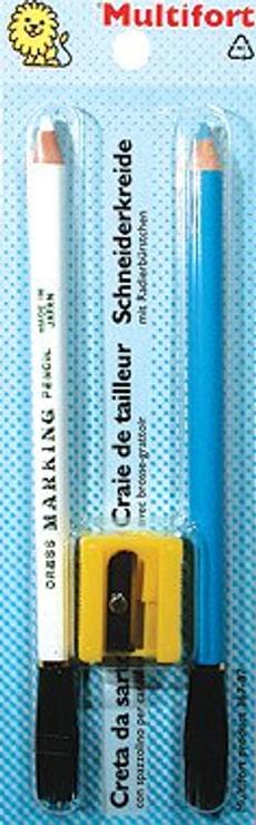 Craie avec taille-crayon 2 pcs.