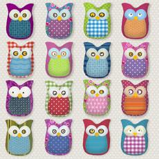 Atelier Serviettes, 20 pcs. 33x33 cm, Many Owls