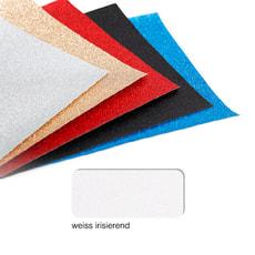 Glitterpapier A4, weiss