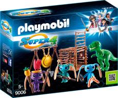 Playmobil Super 4 Guerrieri Alien con trappola per T-Rex 9006