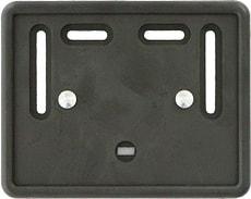 Porte-plaque d'immatriculation pour moto plastique noir 18x14cm