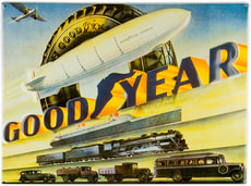 Werbe-Blechschild Goodyear