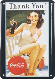 Signe de tôle publicitaire Coca Cola Thank you!