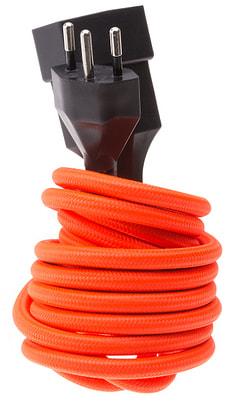 Textil-Verlängerungskabel fluo orange
