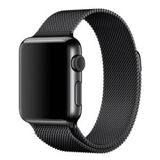 42mm loop in maglia milanese nero siderale