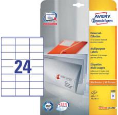 Etichette universali A4 70x36mm 25 fogli