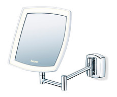 Specchio cosmetico illuminato BS89 argento