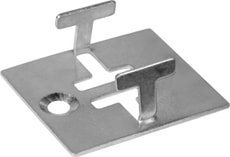 Compositdiele Metallclip