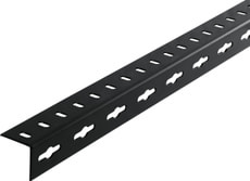 Cornière isocèle 1.5 x 35.5 mm perforé noir 1 m