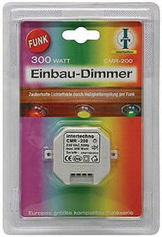 FUNK EINBAUDIMMER 300 W SILBER