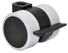 Roule. p. meuble D37 mm blocable, 2pcs.