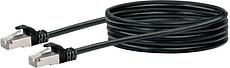 Cable de réseau S/FTP Cat. 6 2.5m noir