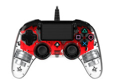 Gaming PS4 Controller Light Edition red