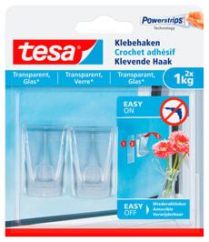 Klebehaken transparent, Glas, 1 kg