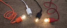 Lampen Zuleitung Rot