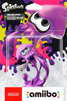Amiibo Splatoon Character - Inkling Squid neon-purple