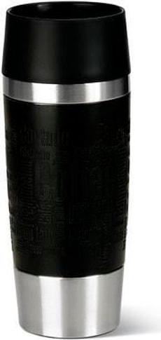 Travel Mug 0.36 l, Silber Schwarz