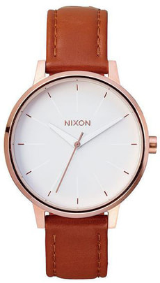 Kensington Leather Rose Gold White 37 mm
