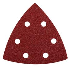 Patins abrasifs triangulaires, corindon affiné, 96 mm, K80