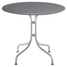 Table ronde BAHAMAS, anthracite, Ø 90 cm