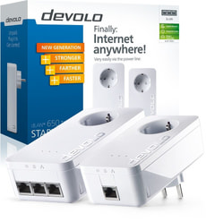 L-Devolo Dlan 650 Triple+ Starter Kit