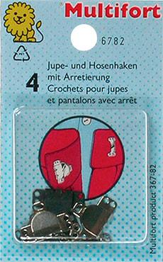Jupe-Verschluss flach 4 Paare