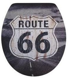 WC-Sitz Relief Route 66