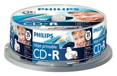 CD-R 700MB Inkjet Printable 25-Pack