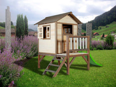 Kinderspielhaus Lodge XL, natur/braun