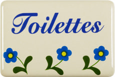 Emailschild Toilettes