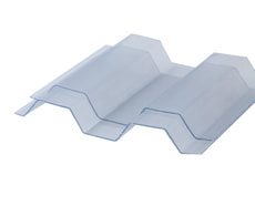 Plaques ondulées en PVC S 70/18